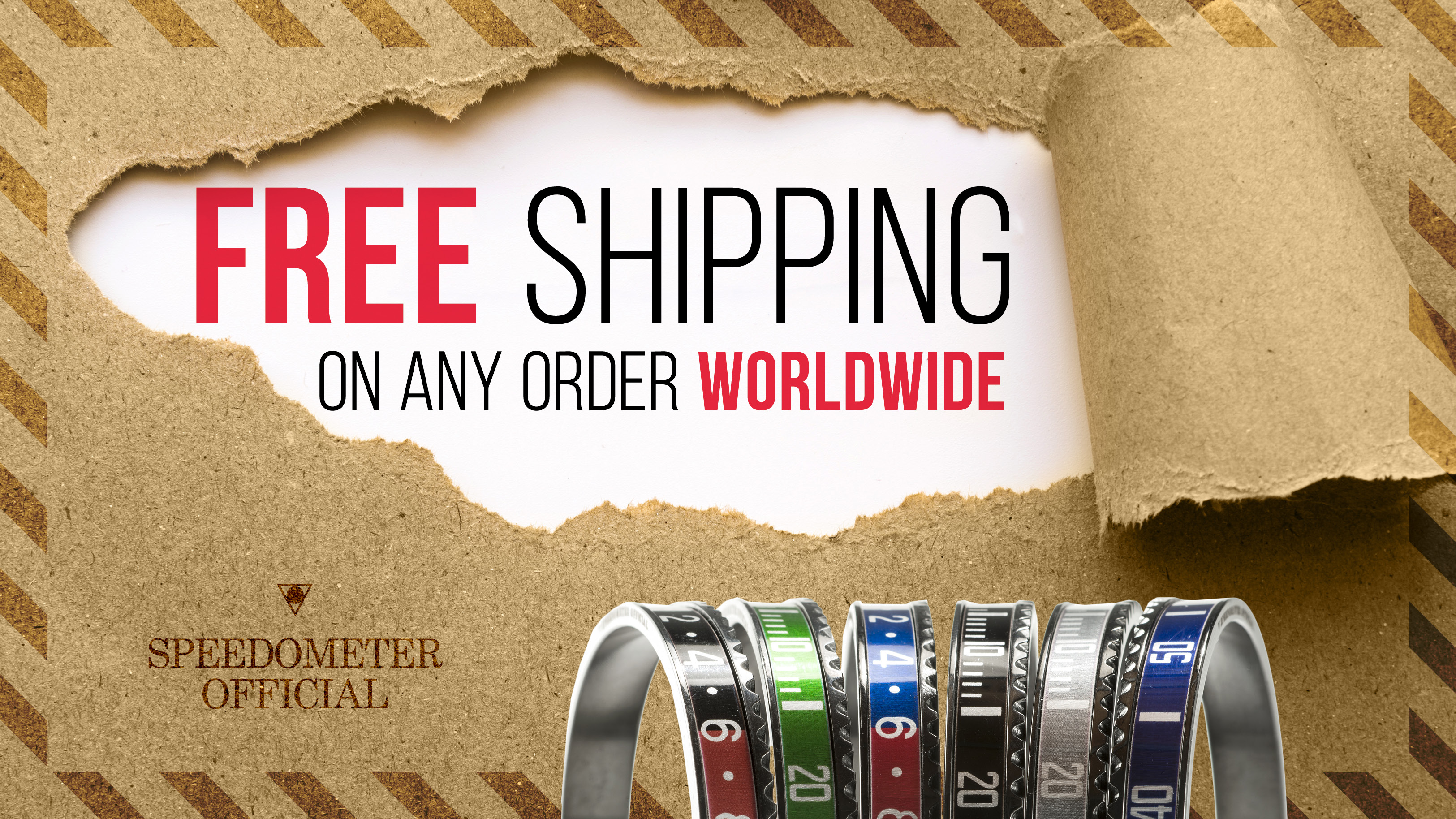 Free shipping on any order worldwide