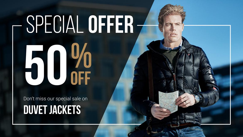 Duvet Jacket 50% off